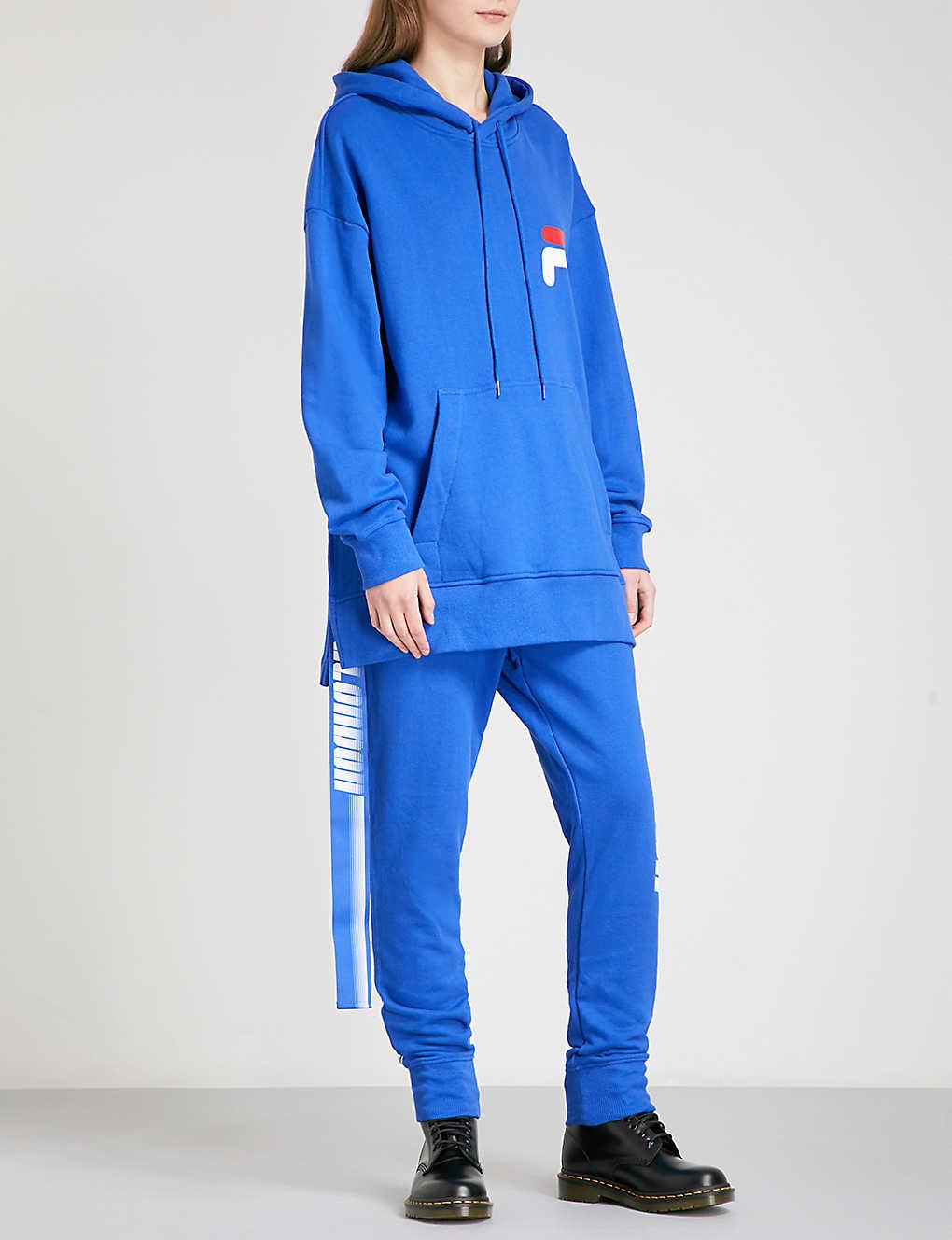 65e56084d4b56 D-ANTIDOTE - D-ANTIDOTE x Fila cotton-jersey hoody | Selfridges.com