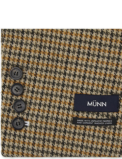 MUUN Checked wool scarf