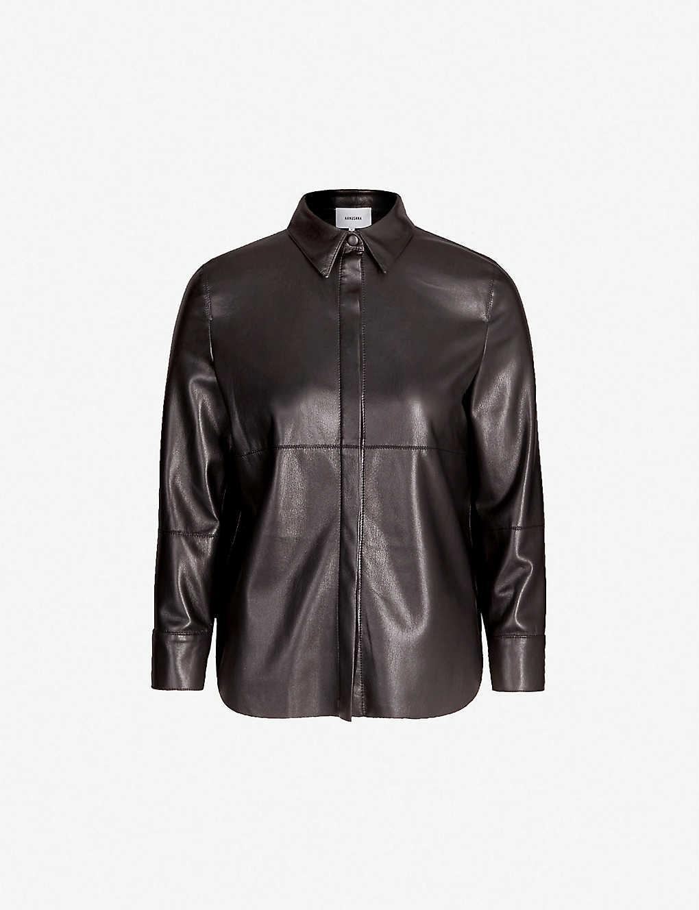 162f239ecbacb5 NANUSHKA - Naum vegan-leather shirt | Selfridges.com