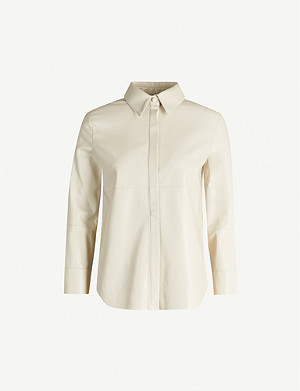 NANUSHKA Naum vegan-leather shirt
