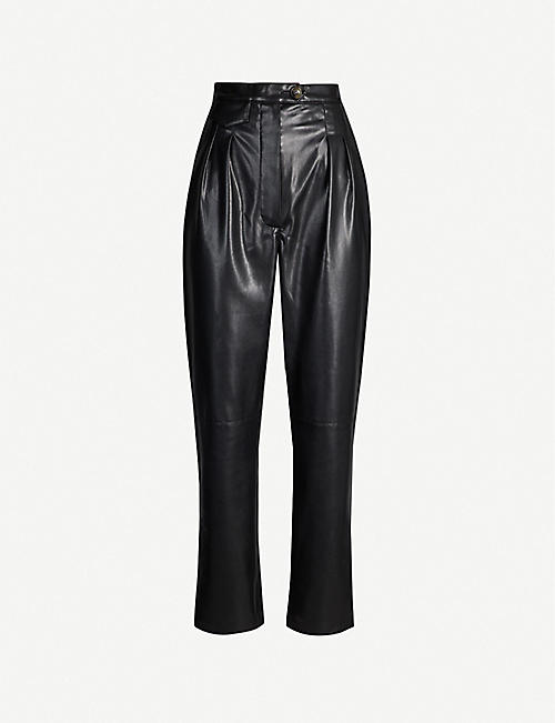 NANUSHKA Mitsu tapered vegan-leather trousers