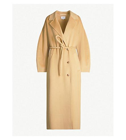 Nanushka Coats Loane belted single-breasted wool-blend coat