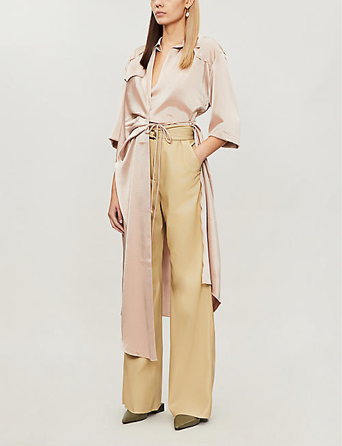 NANUSHKA Kisa flared faux-leather trousers