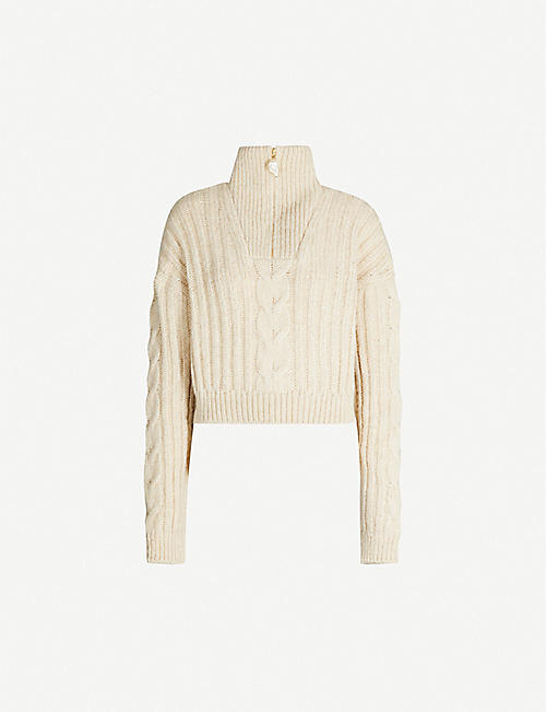 NANUSHKA Eria funnel-neck knitted jumper