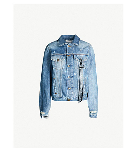 978693df62 FAITH CONNEXION Distressed denim jacket (Blue