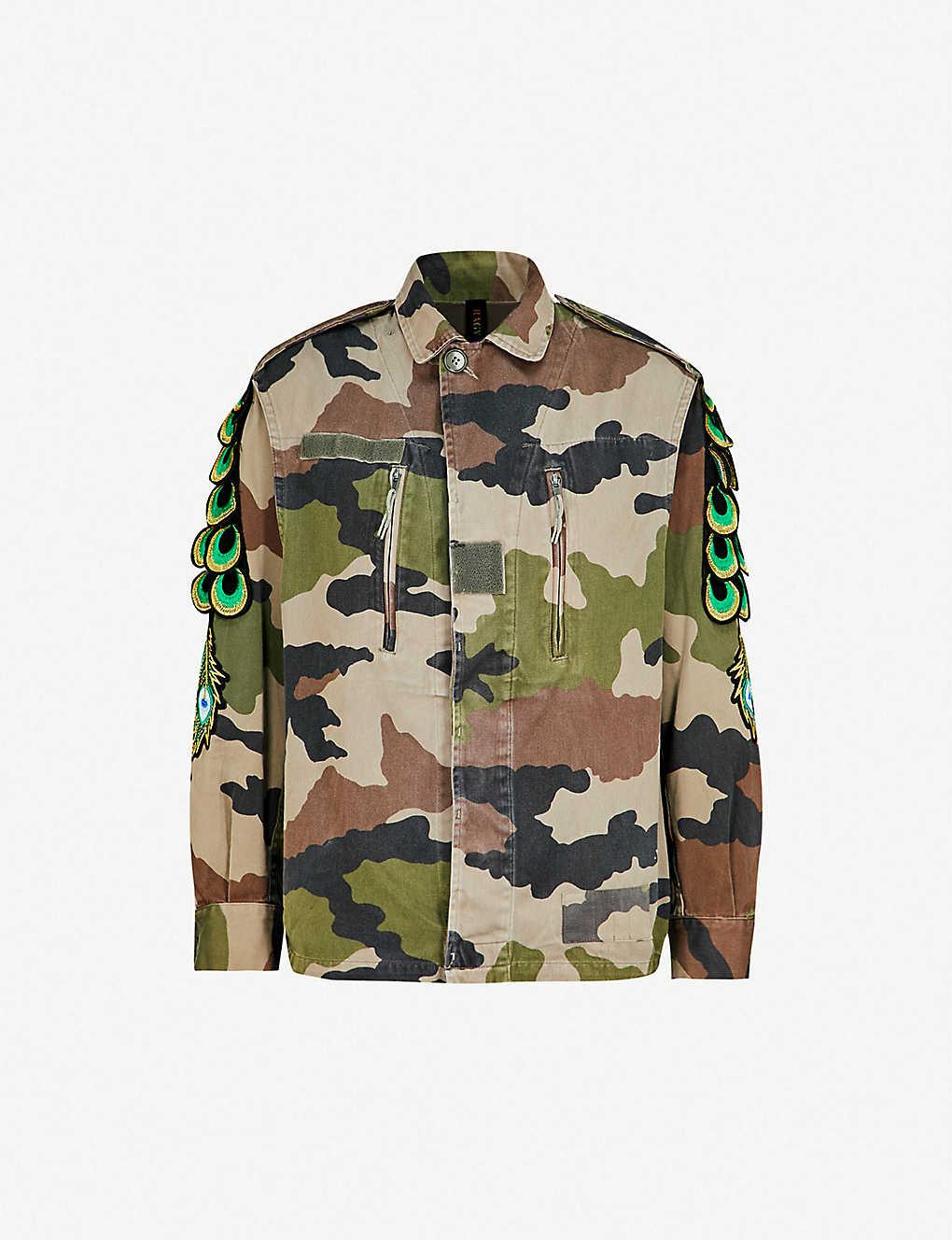 318ad64701ba1 RAGYARD - Camouflage-print peacock cotton jacket | Selfridges.com