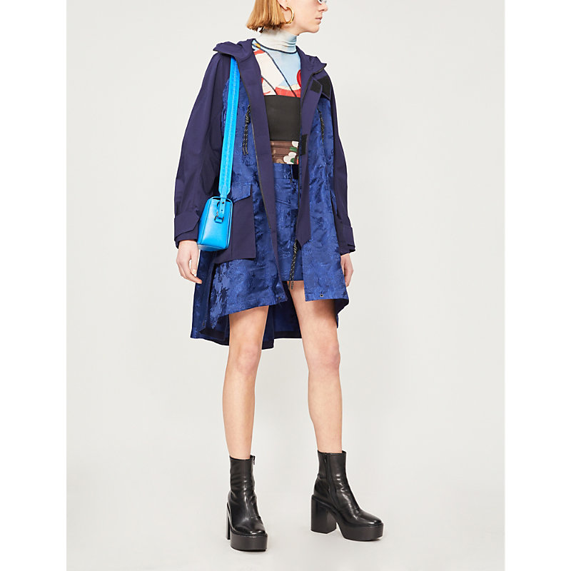 Angel Chen Coats DRAGON-EMBROIDERED TWILL AND SATIN COAT