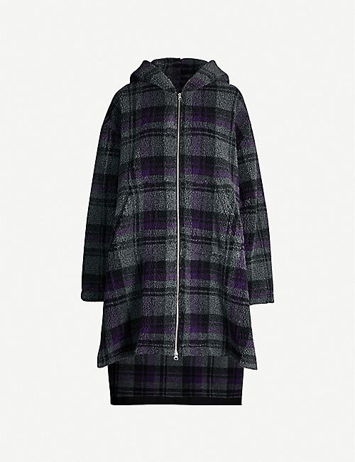 MM6 MAISON MARGIELA Checked hooded jersey coat