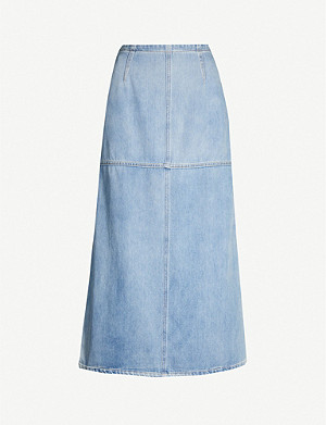 MM6 MAISON MARGIELA Cut-out denim midi skirt