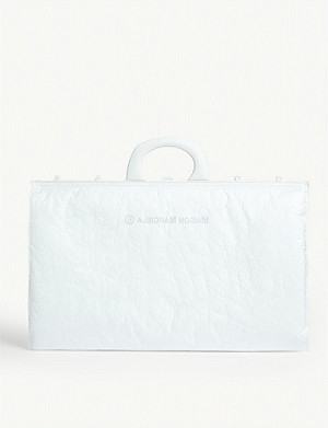MM6 MAISON MARGIELA Logo-stamped padded shell document tote bag