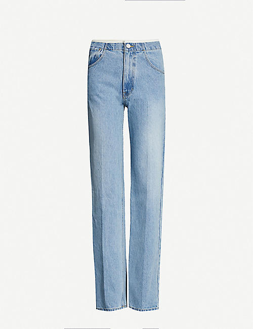 WE11 DONE Faded straight-leg high-rise jeans