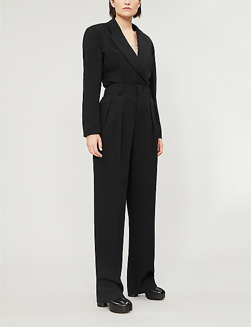 WE11 DONE High-rise wide-leg woven trousers