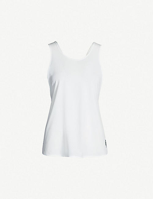 NIKE Perforated stretch-jersey tank top