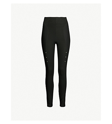 7fc61c55e9c76 NIKE - High-rise ribbed stretch-jersey leggings | Selfridges.com
