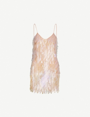 ASHISH Spaghetti-strap sequinned mini dress