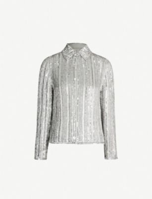 ASHISH Zip-up sequinned jacket