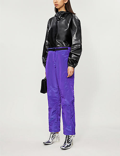 MSGM Pantalone straight regular-fit shell trousers