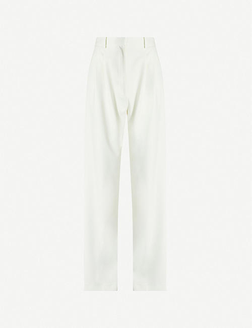 AWAKE Dropped-crotch straight high-rise trousers