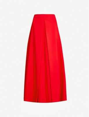 AWAKE Hattori high-waist crepe midi skirt