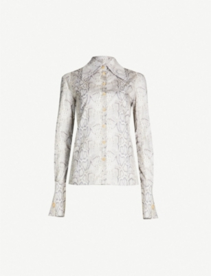 AWAKE Tonie python-print cotton shirt