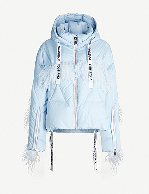 KHRISJOY Khris feather-trimmed shell-down jacket