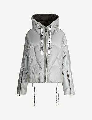 KHRISJOY Khris funnel-neck shell-down jacket