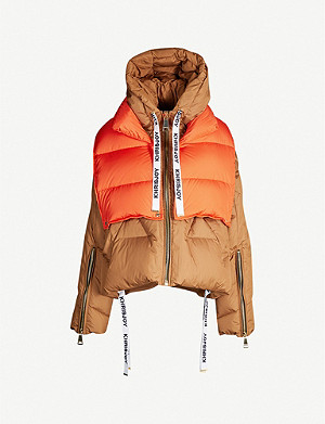 KHRISJOY Khris brown puffa w vest