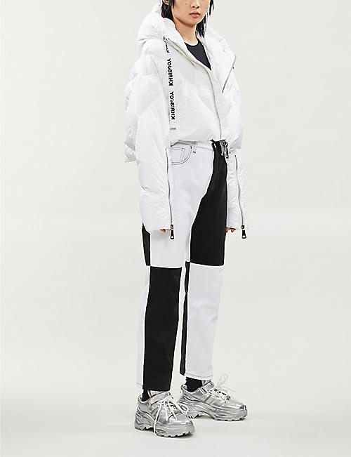 KHRISJOY Cropped shell-down puffer jacket