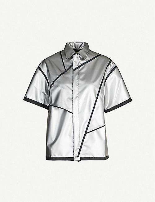 1245ca59d6dd2f STUDIO ALCH Contrast-trim loose shell jacket