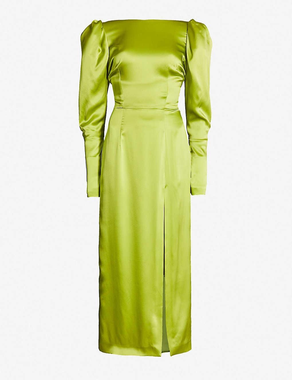 20a9f83a1a5ac 16 ARLINGTON - Puffed-shoulder silk dress