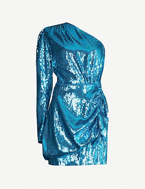 1a8daa5e40919 16 ARLINGTON One-shoulder sequinned dress