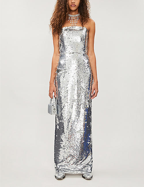 16 ARLINGTON Jorja strapless sequinned dress