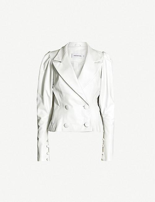 4ea1d138ceb4b 16 ARLINGTON Puffed-shoulder leather blazer