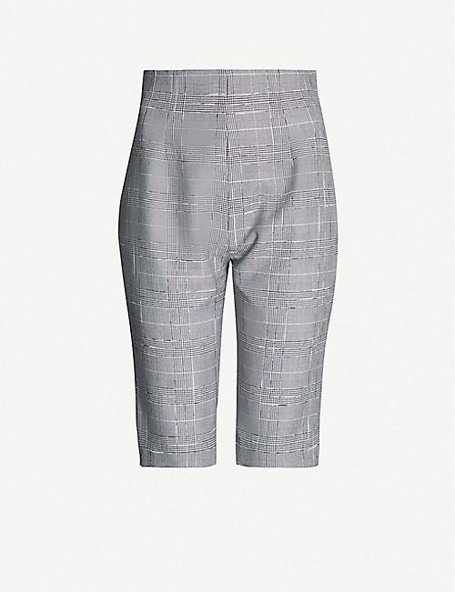 b3dabbbcaed64 16 ARLINGTON Checked crepe shorts