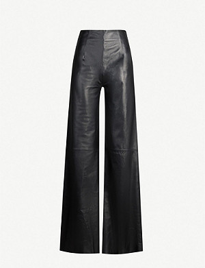 16 ARLINGTON Marvin high-rise leather trousers