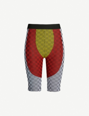 PAOLINA RUSSO Giovanni chequered stretch-jersey cycling shorts