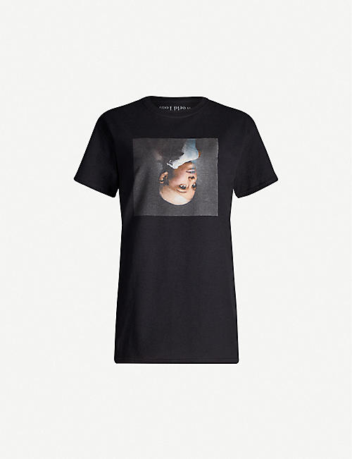 BRAVADO DESIGNS Ariana Grande Sweetener World Tour printed cotton-jersey T-shirt