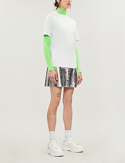 KIRIN PEGGY GOU Logo-embroidered cotton-jersey T-shirt