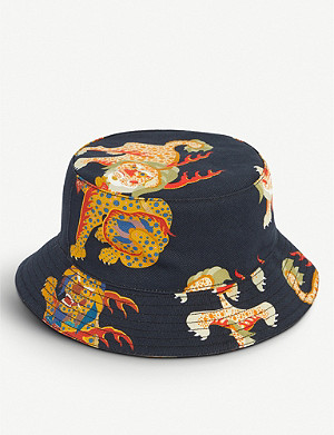 KIRIN PEGGY GOU Haetae-print denim bucket hat