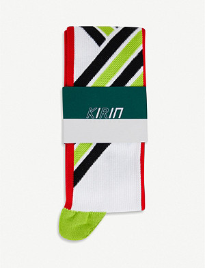 KIRIN PEGGY GOU Striped-intarsia cotton-blend socks
