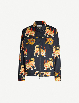 KIRIN PEGGY GOU Haetae-print oversized denim jacket