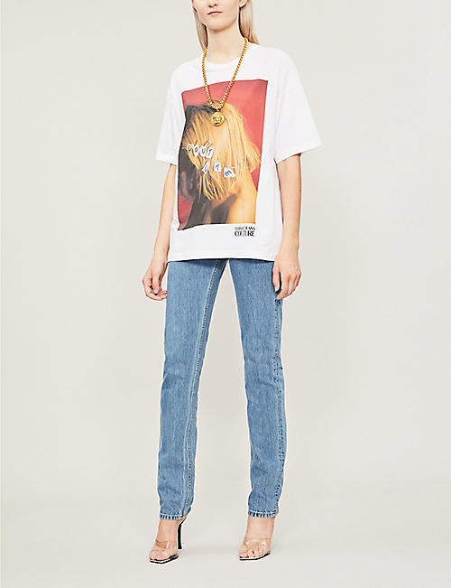 VERSACE JEANS COUTURE Photo-print cotton-jersey T-shirt