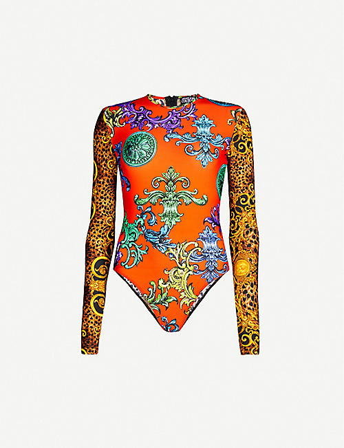 VERSACE JEANS COUTURE Barocco-print stretch-jersey body