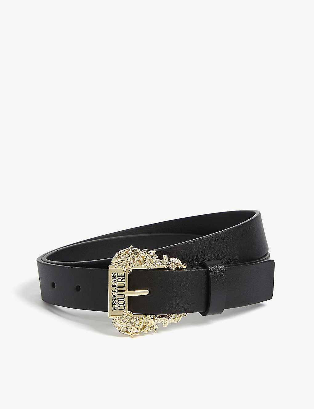 VERSACE JEANS COUTURE Embellished buckle leather belt