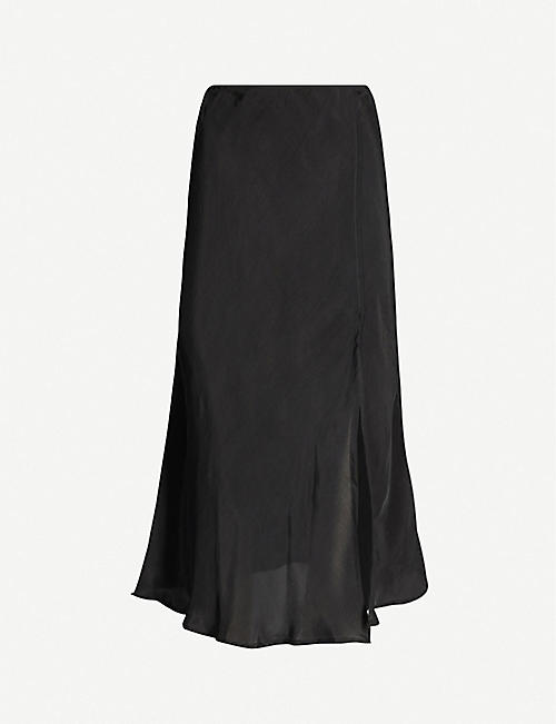 LEO Loki high-waisted organza midi skirt
