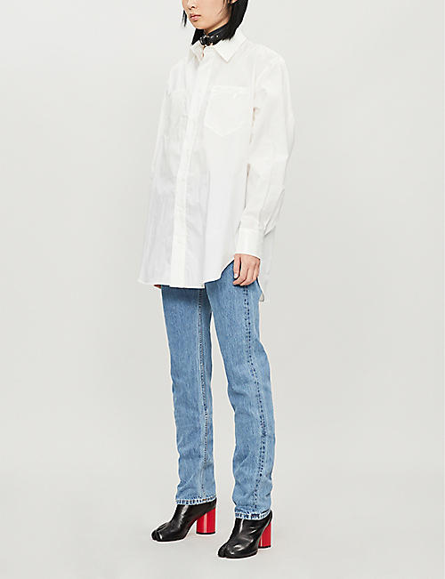 ARTICA ARBOX Oversized cotton shirt