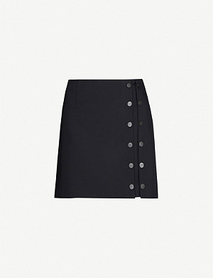 ARTICA ARBOX Buttoned wool-blend mini skirt