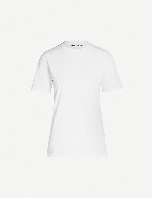 ARTICA ARBOX Reminiscent-print cotton-jersey T-shirt