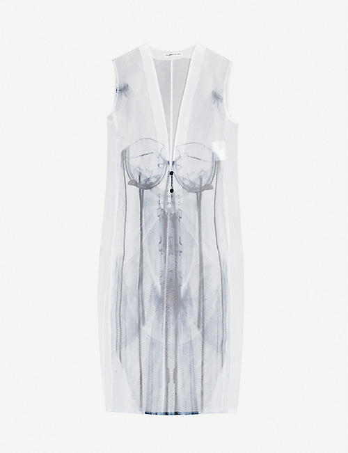 AKIKOAOKI Scanning printed sleeveless woven midi dress