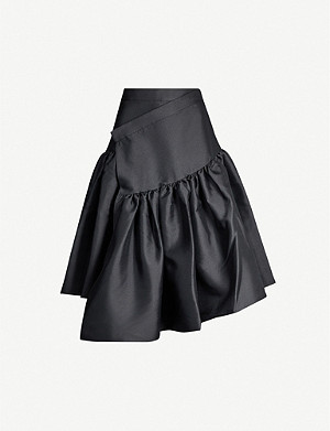 SHUSHU TONG Asymmetric-tier twill skirt